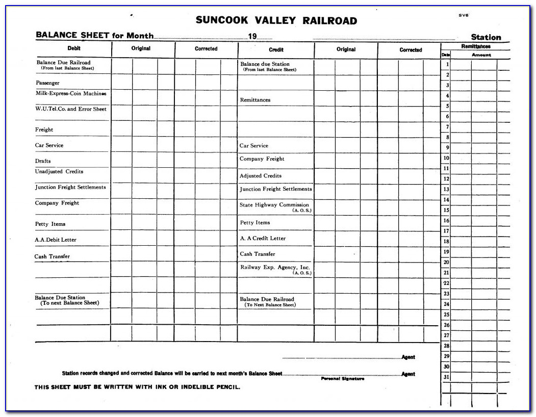 Blank Pro Forma Balance Sheet