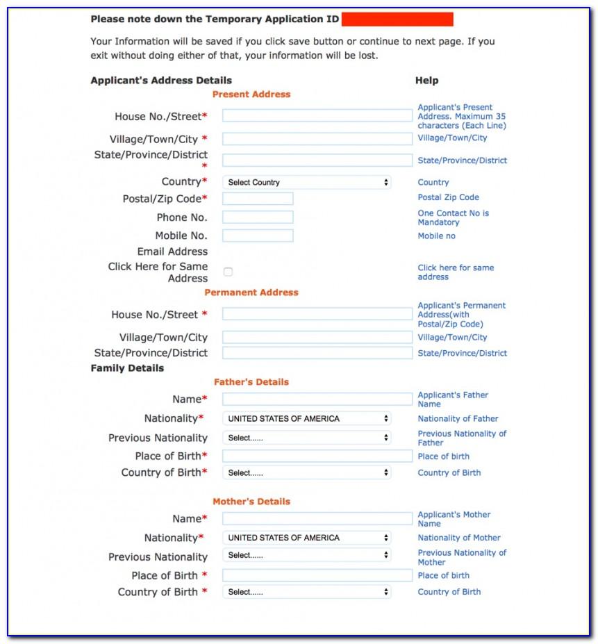Bls India Tourist Visa Application Form