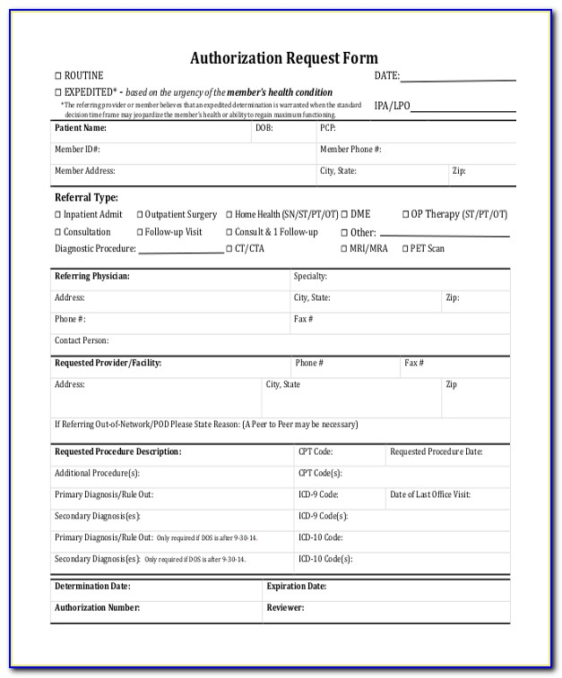 Blue Cross Prior Authorization Forms Ma