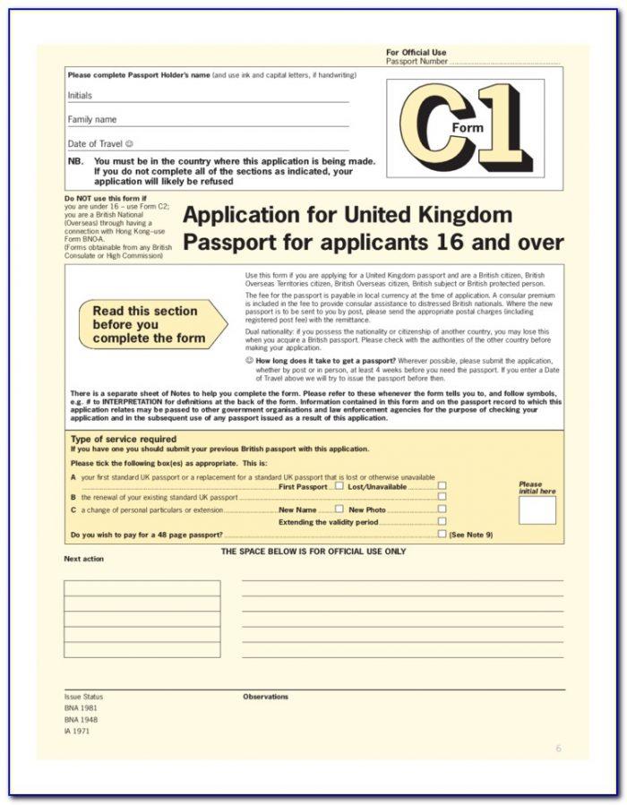 British Passport Renewal Forms Canada