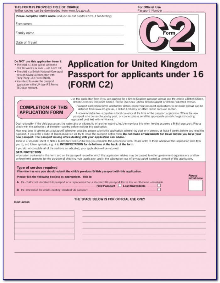 British Passport Renewal Forms Download