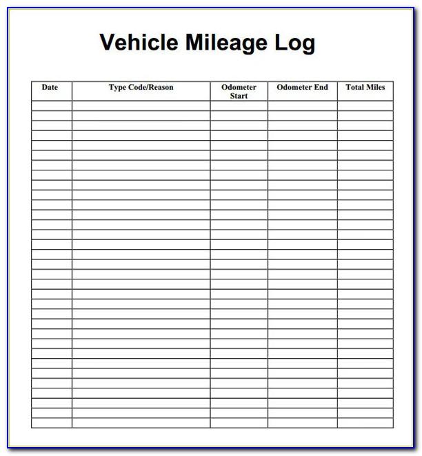 Business Mileage Log Template