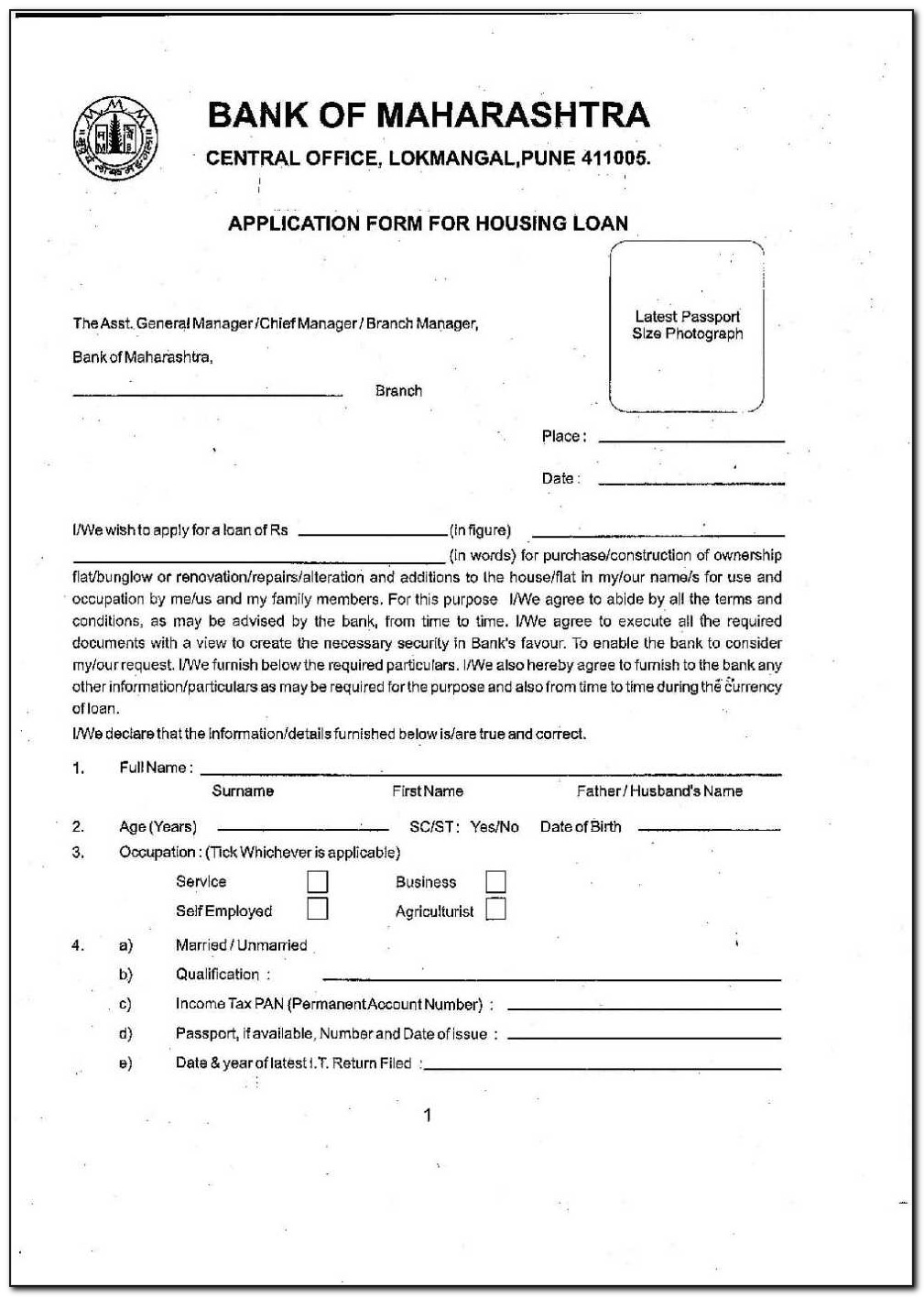 Cha Housing Application Form