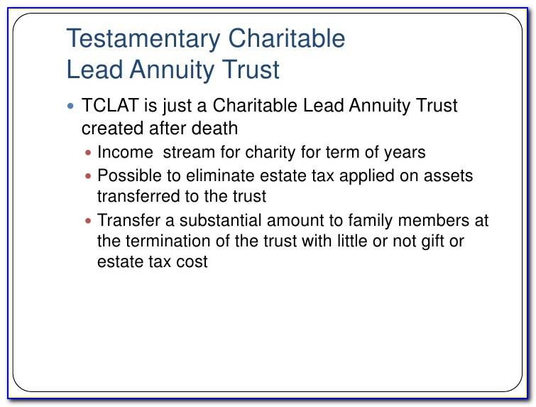 Charitable Lead Annuity Trust Form