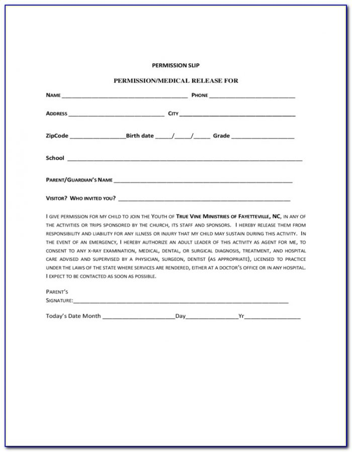 Children's Ministry Registration Form Template