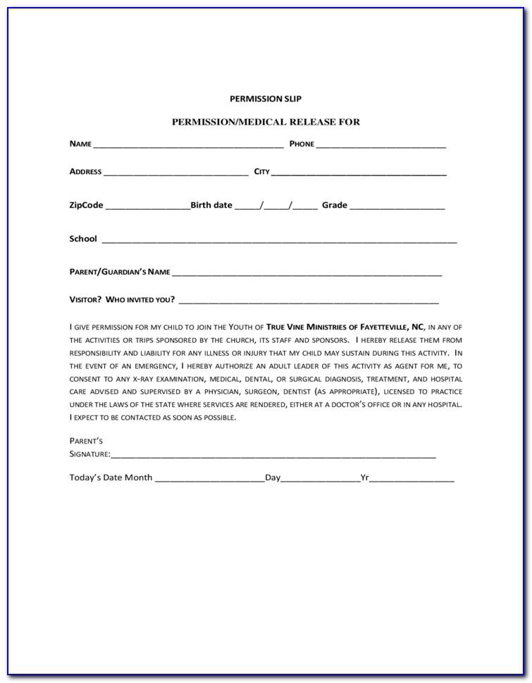 Children's Ministry Registration Form Template