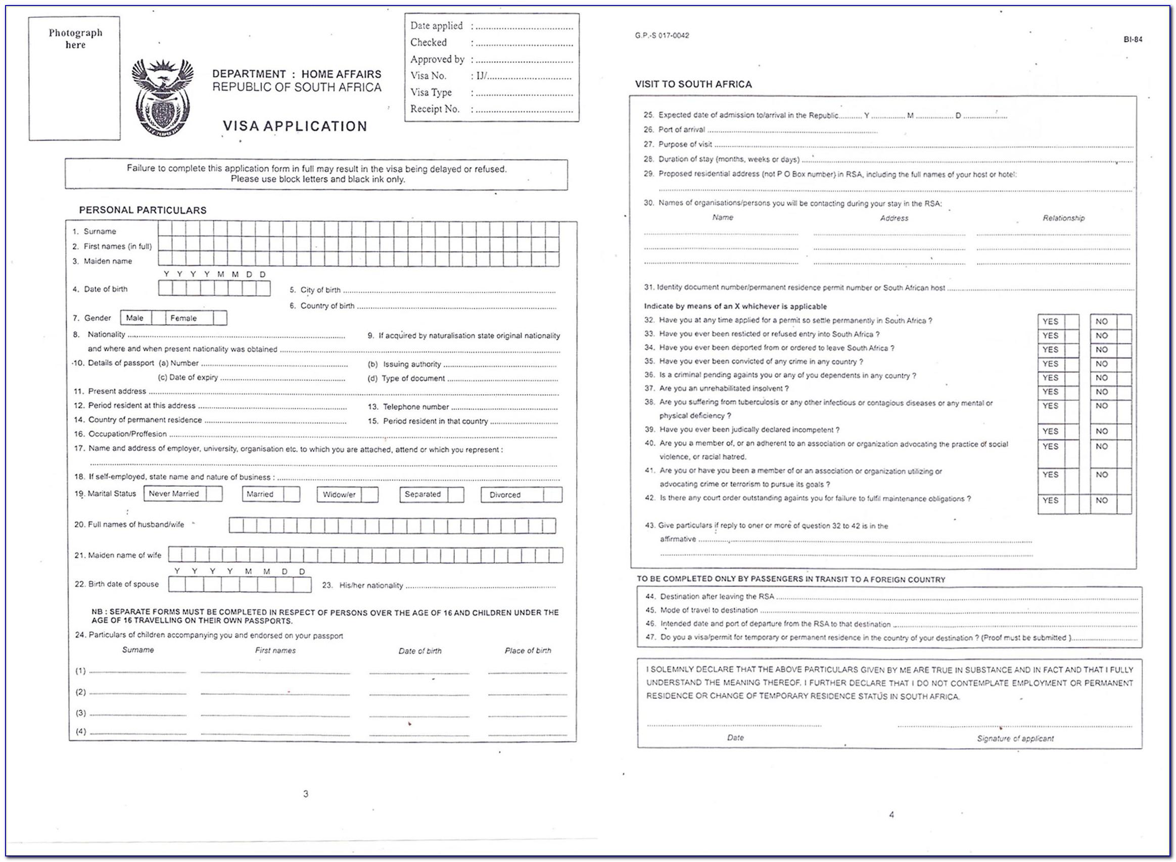 China Visa Forms Application