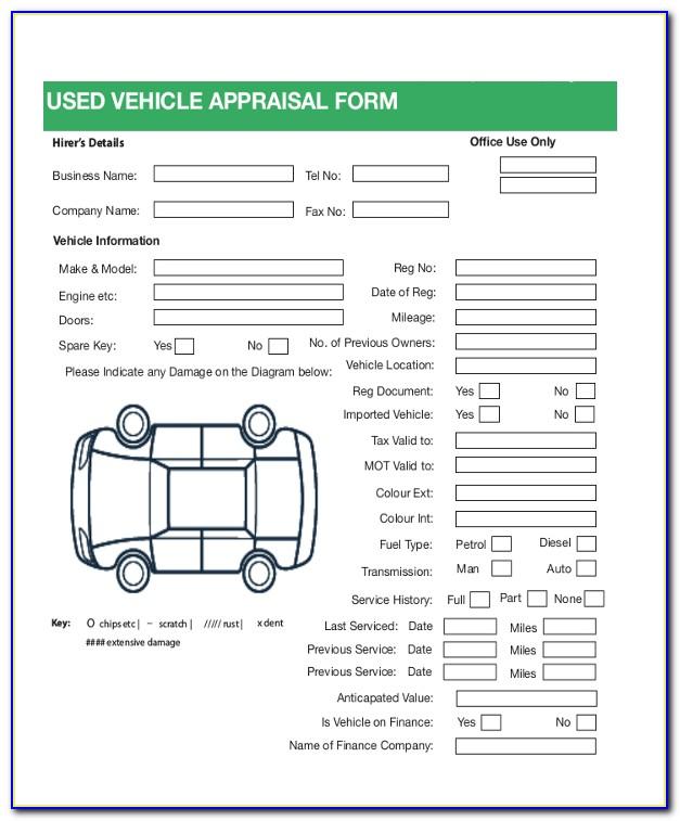 Classic Car Appraisal Template