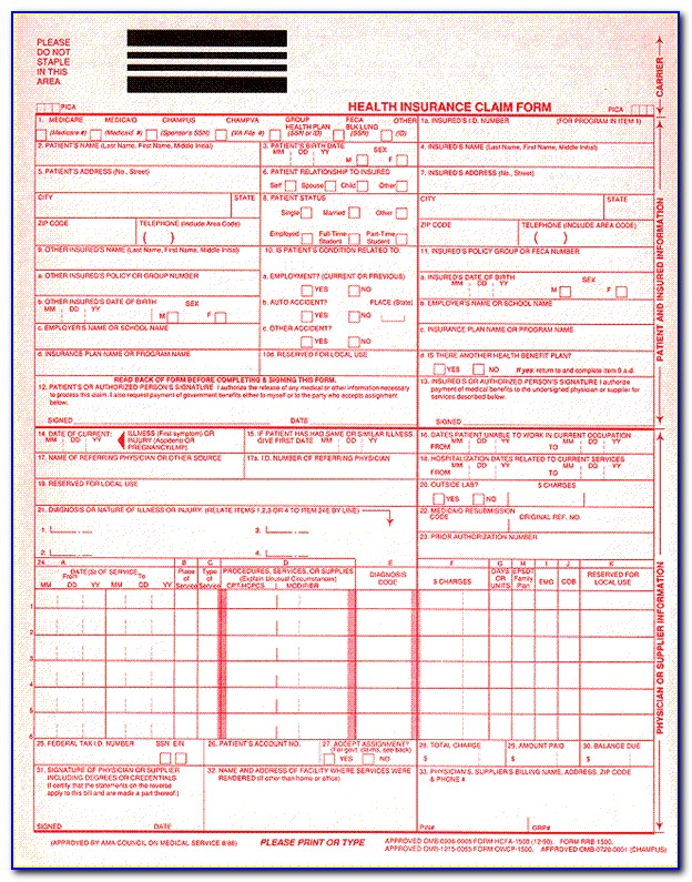 Cms 1500 New Form Effective Date