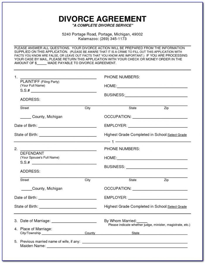 Co Petitioner Divorce Forms Oregon