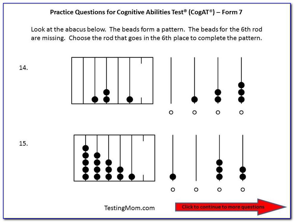 Cogat Form 7 Practice Test Free