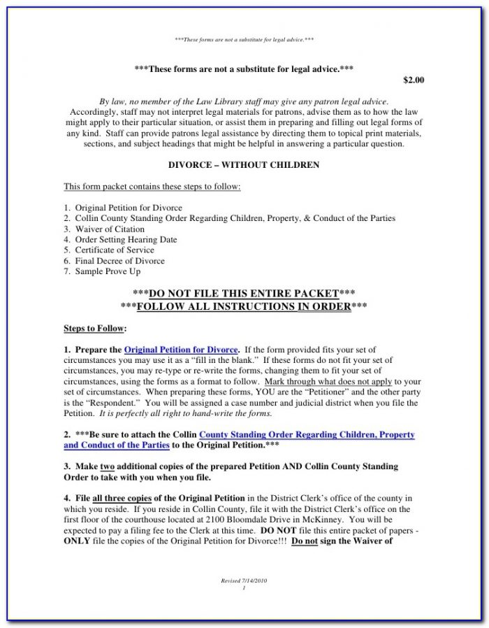 Collin County Divorce Filing Fees