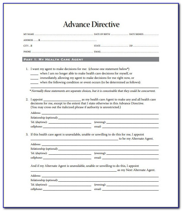 Colorado Advance Medical Directive Form