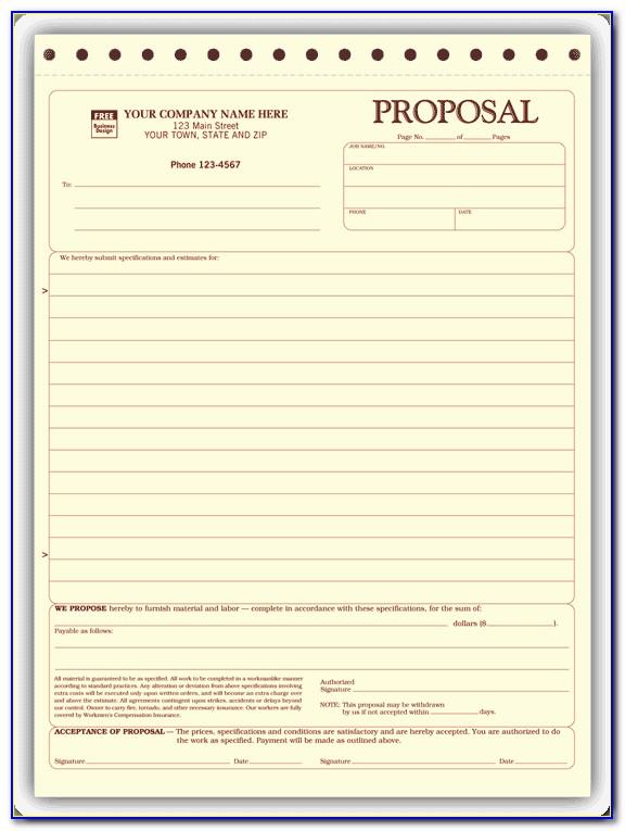 Construction Bid Proposal Template Word