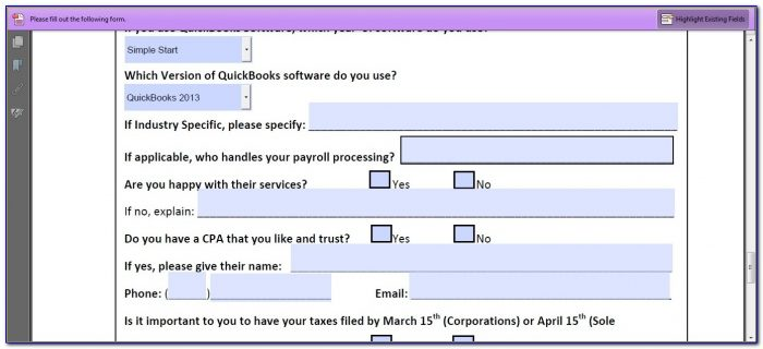 Creating A Pdf Fillable Form