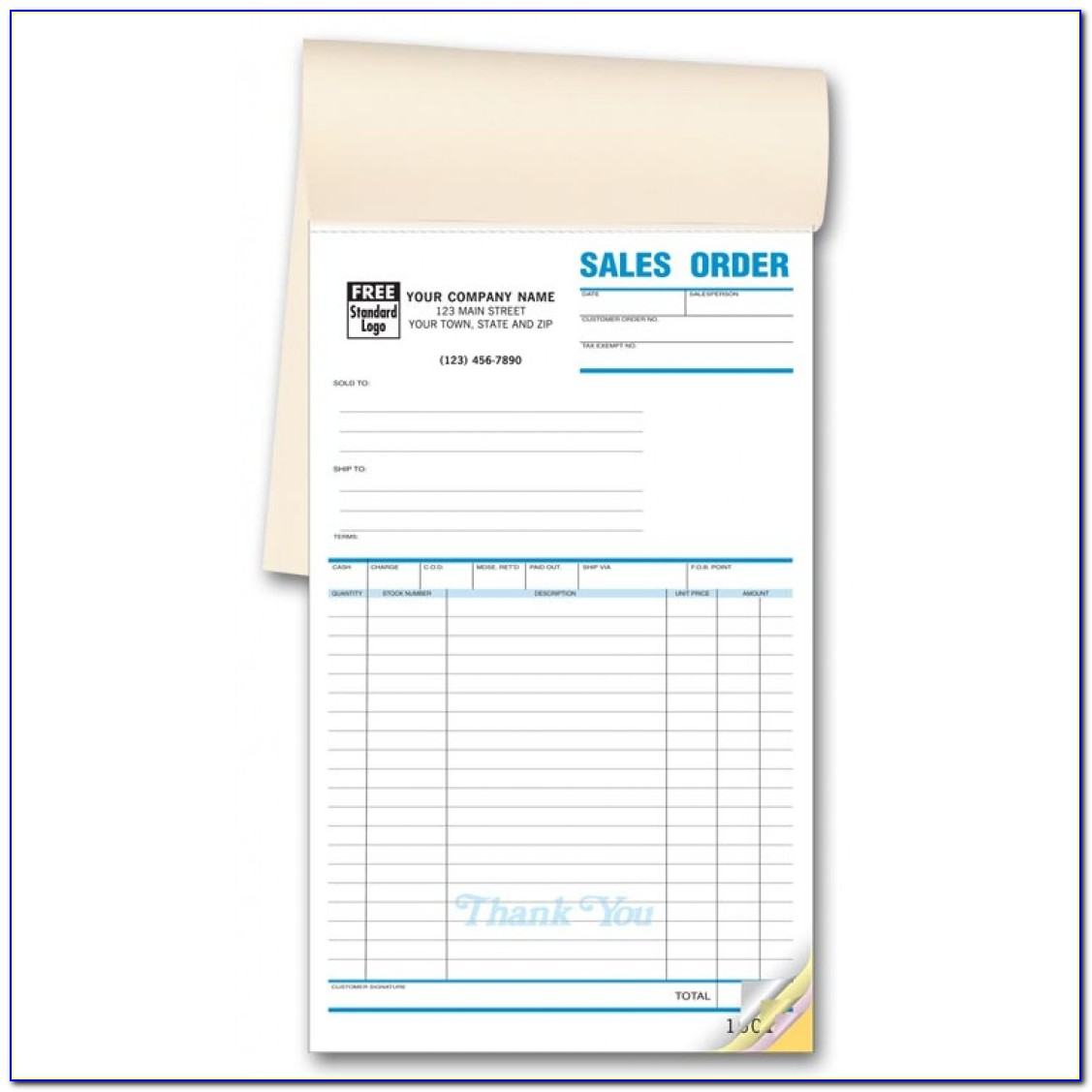 Custom Carbonless Order Forms
