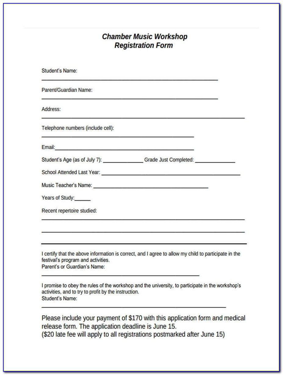 Workshop Registration Forms 11 Free Documents In Word, Pdf With Regard To Workshop Registration Form Template