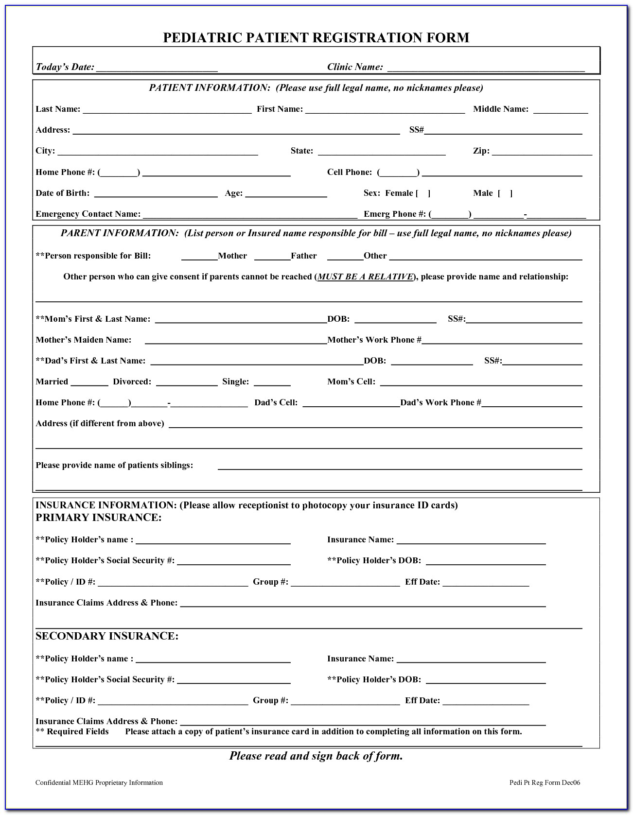 Dental Patient Complaint Form Template