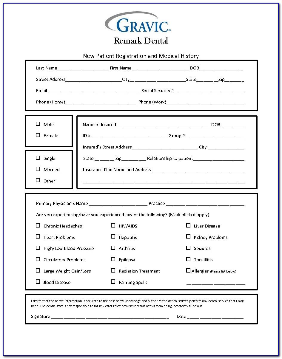 Dental Patient Information Form Template