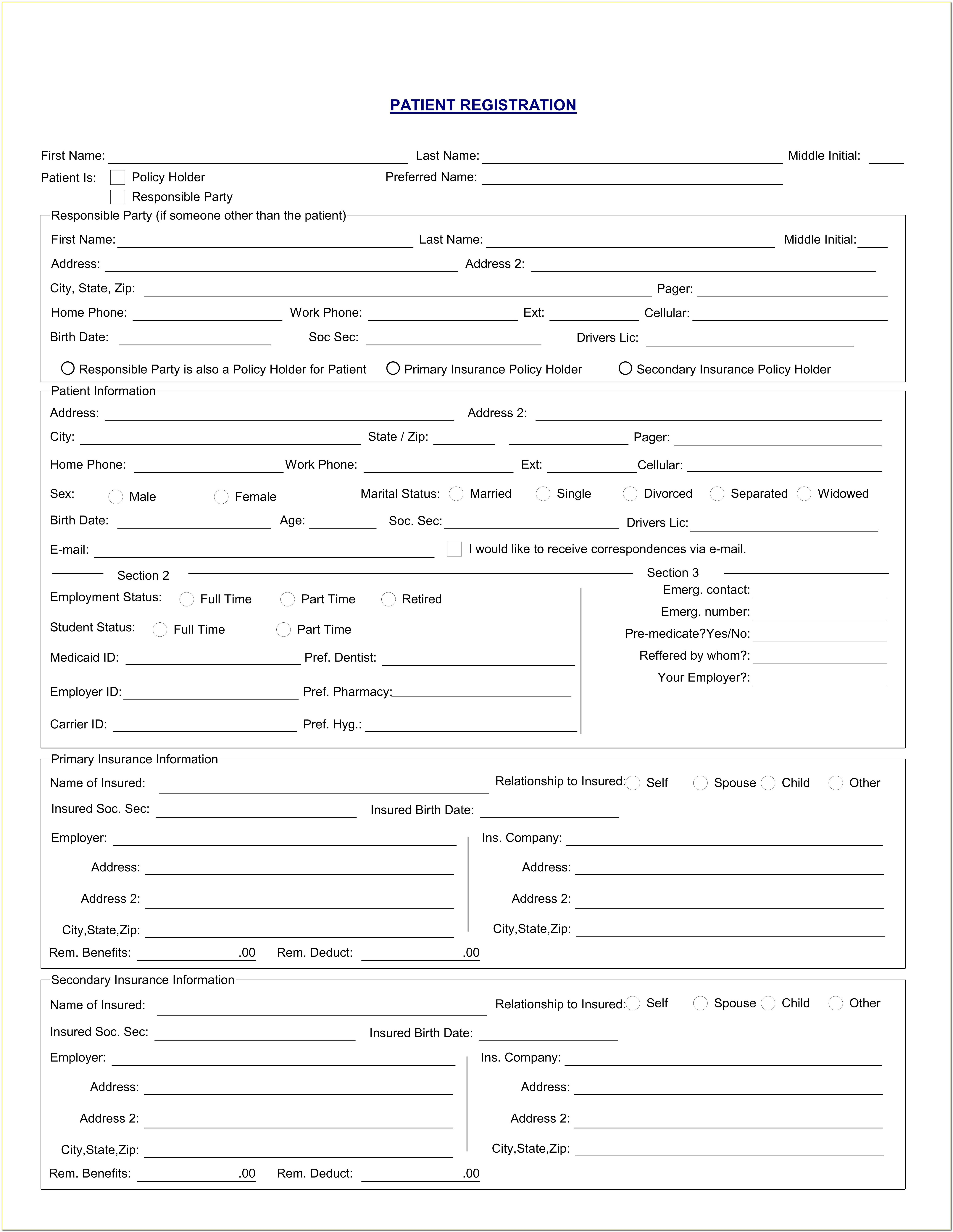 Dental Patient Referral Form Template