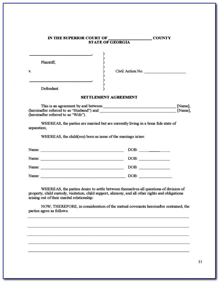 Divorce Forms Cobb County Ga