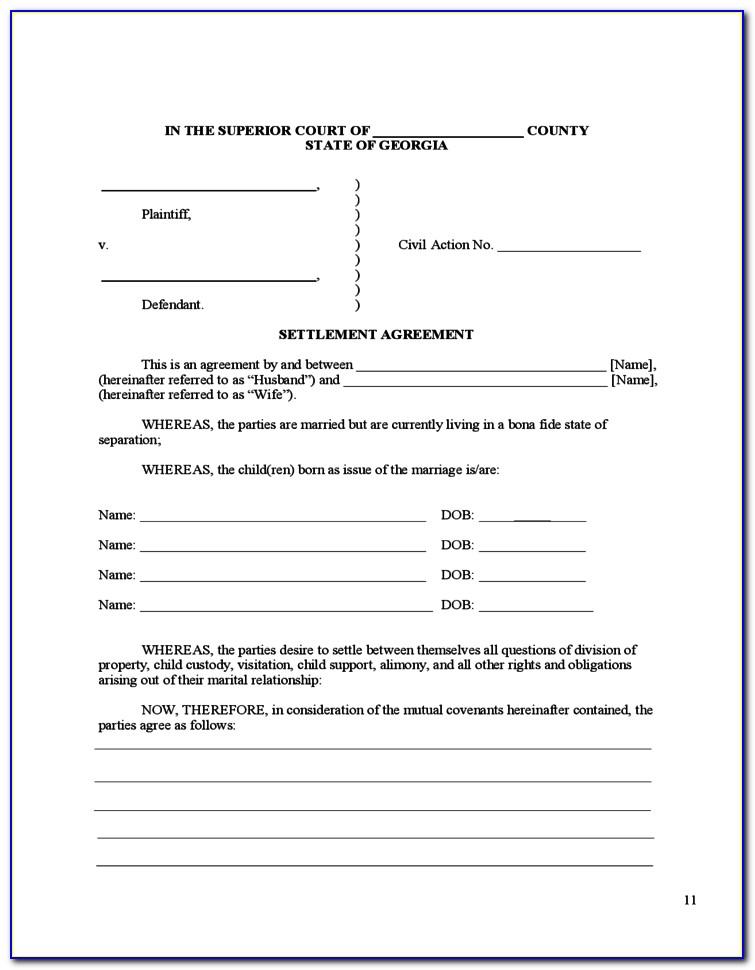 Divorce Forms Cobb County Ga