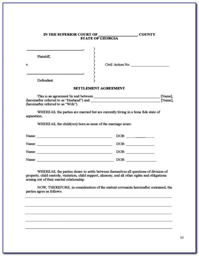 Divorce Forms Dekalb County Ga