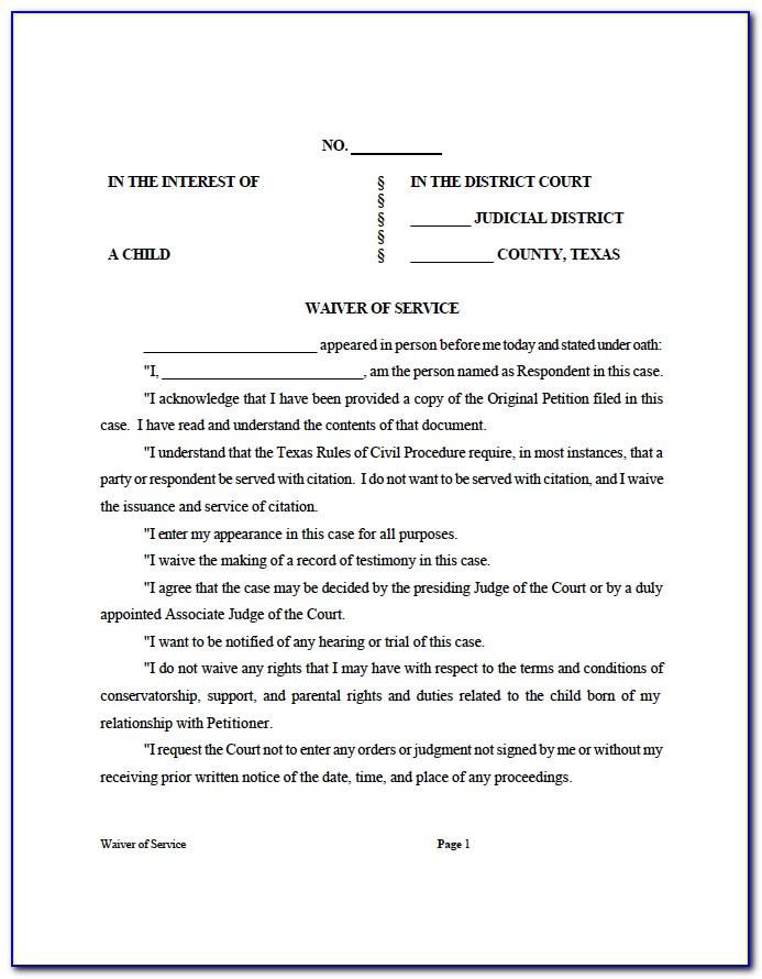 Divorce Petition Form Download Texas