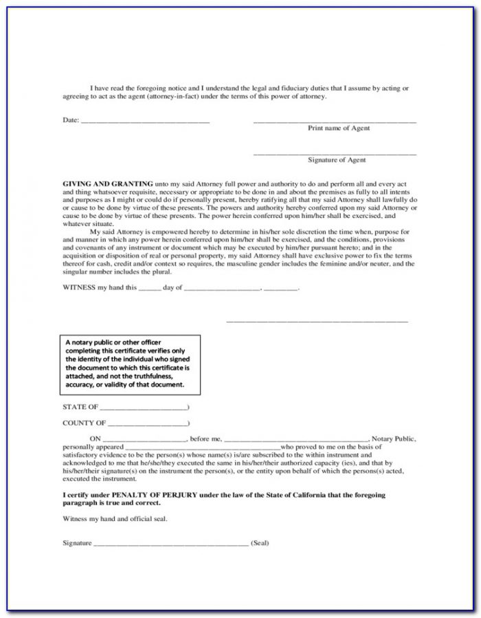Durable Power Of Attorney Arkansas Free Forms