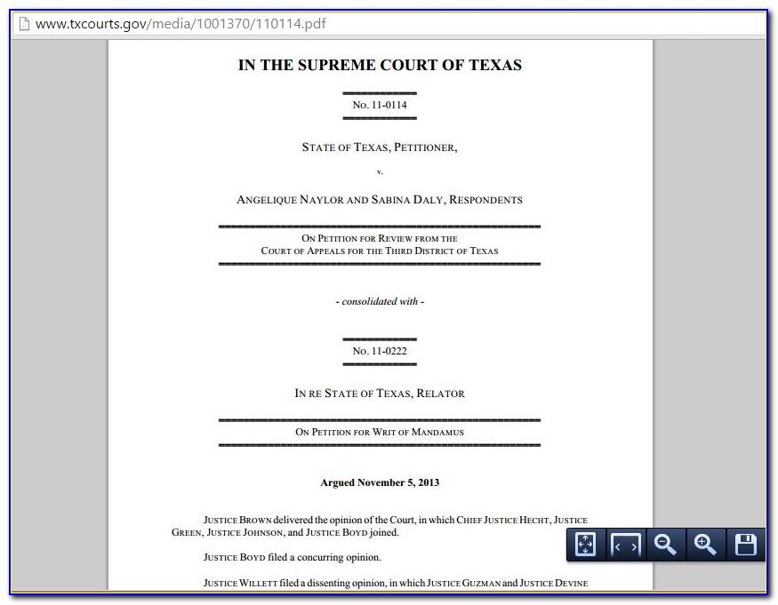 Tex 2015 Same Sex Divorce Case State Of Texas V Naylor
