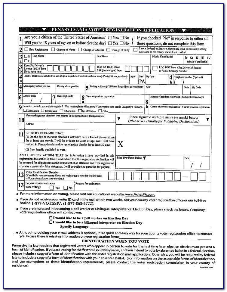 Election Application Form Status