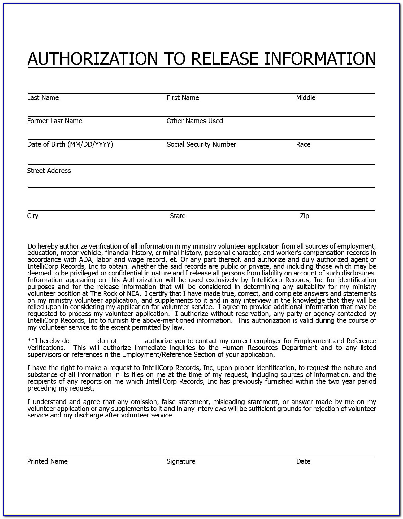 Employee Background Check Format Letter