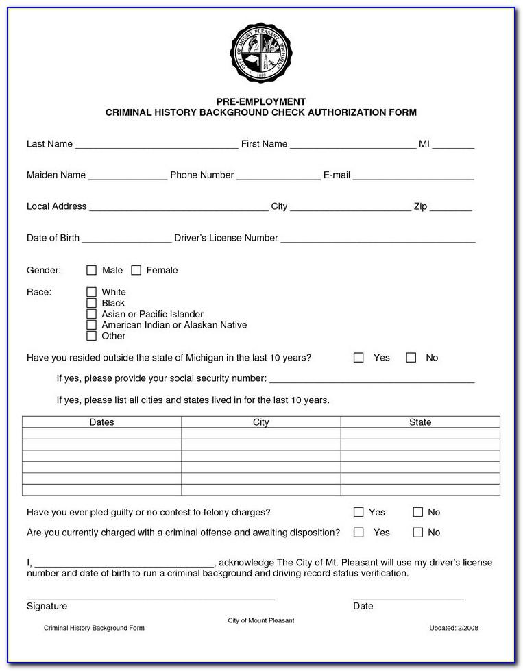 Employee Background Verification Form