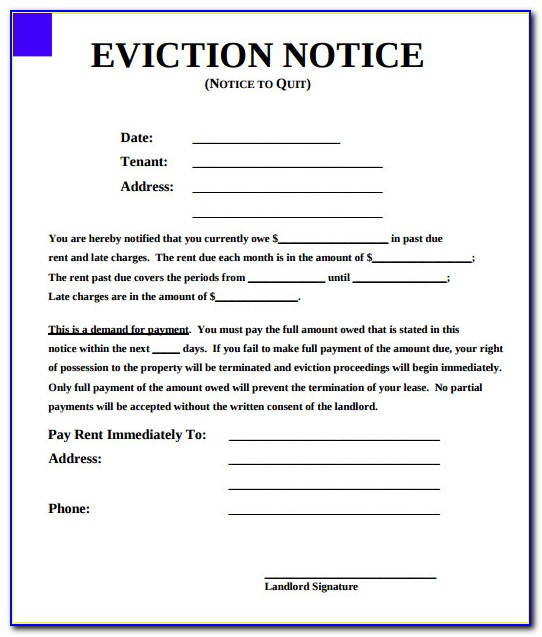Eviction Notices Forms