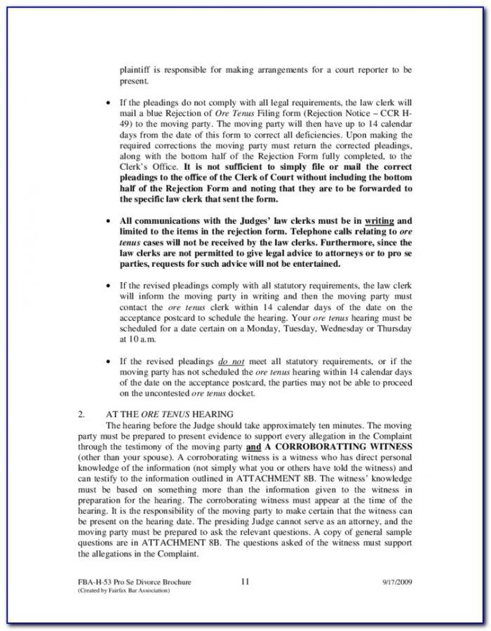 Fairfax County Civil Court Forms