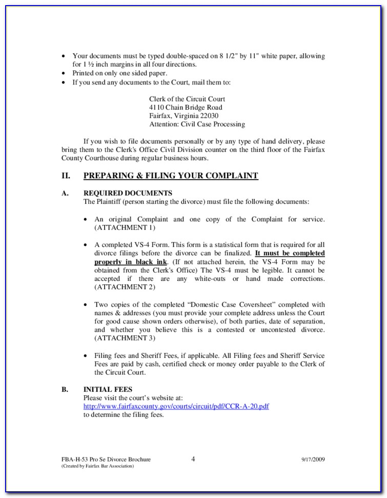 Fairfax County Probate Court Forms