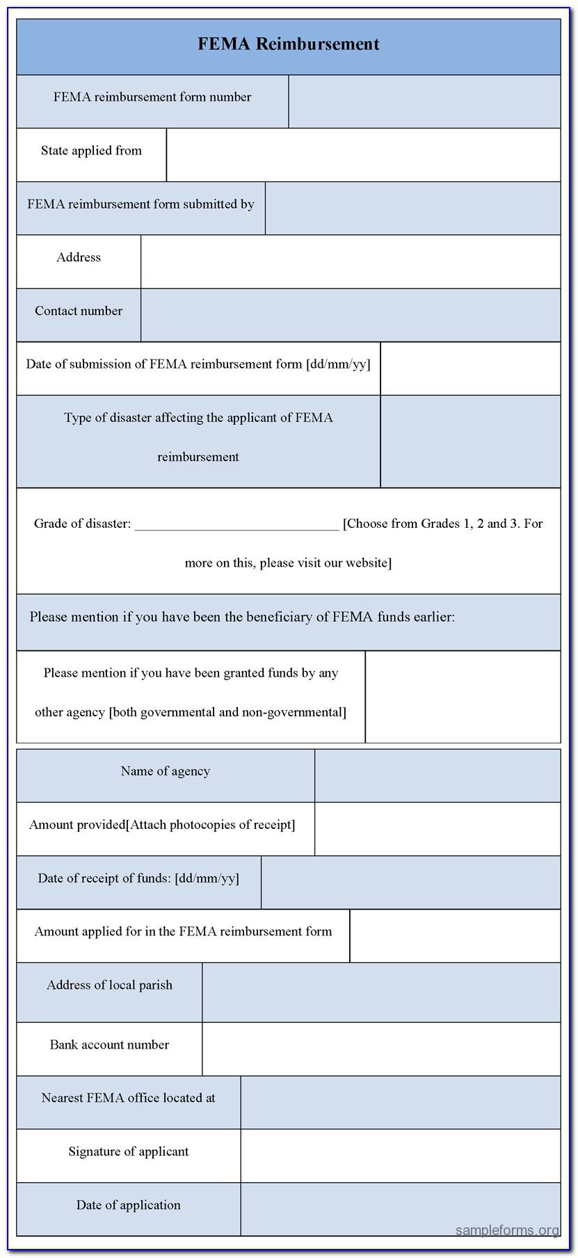 Fema Flood Application Form