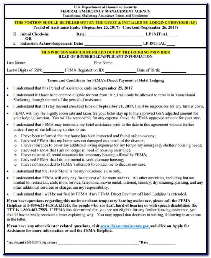 Fema Grant Application Form
