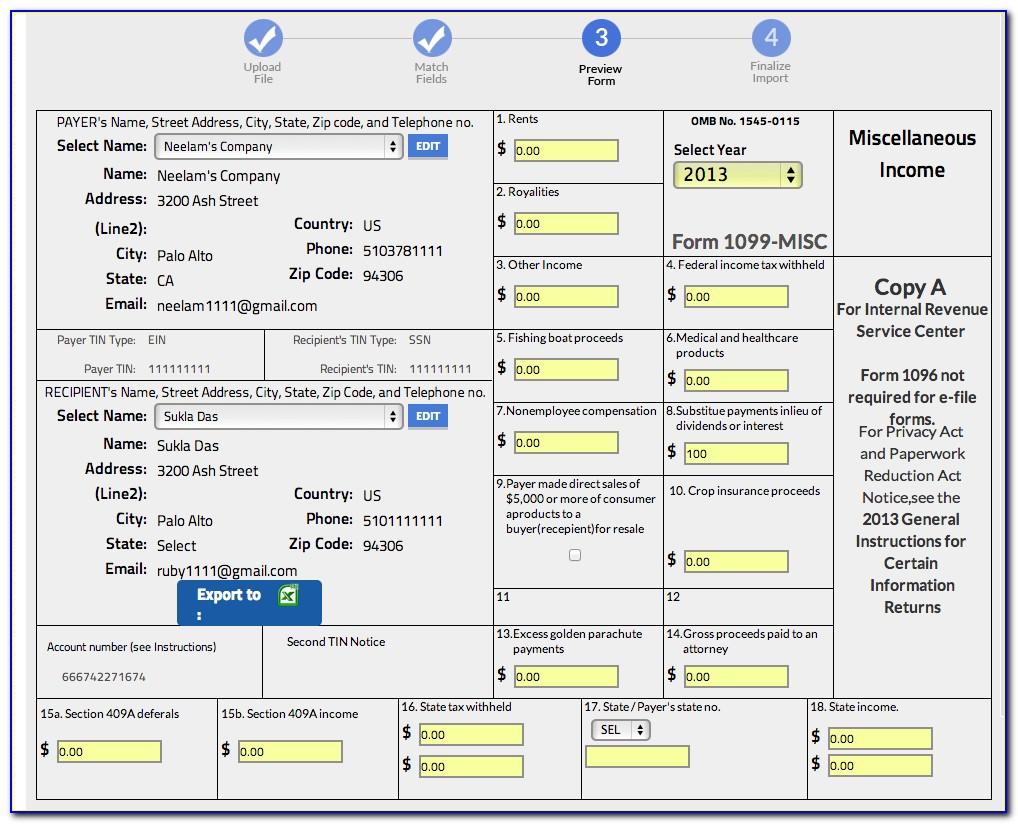 Filing Form 1099 Online