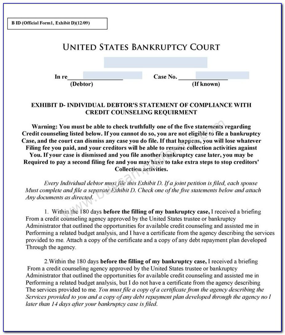 Florida Bankruptcy Paperwork