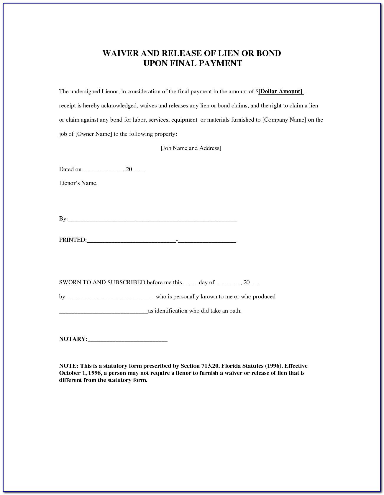 Florida Construction Lien Law Forms
