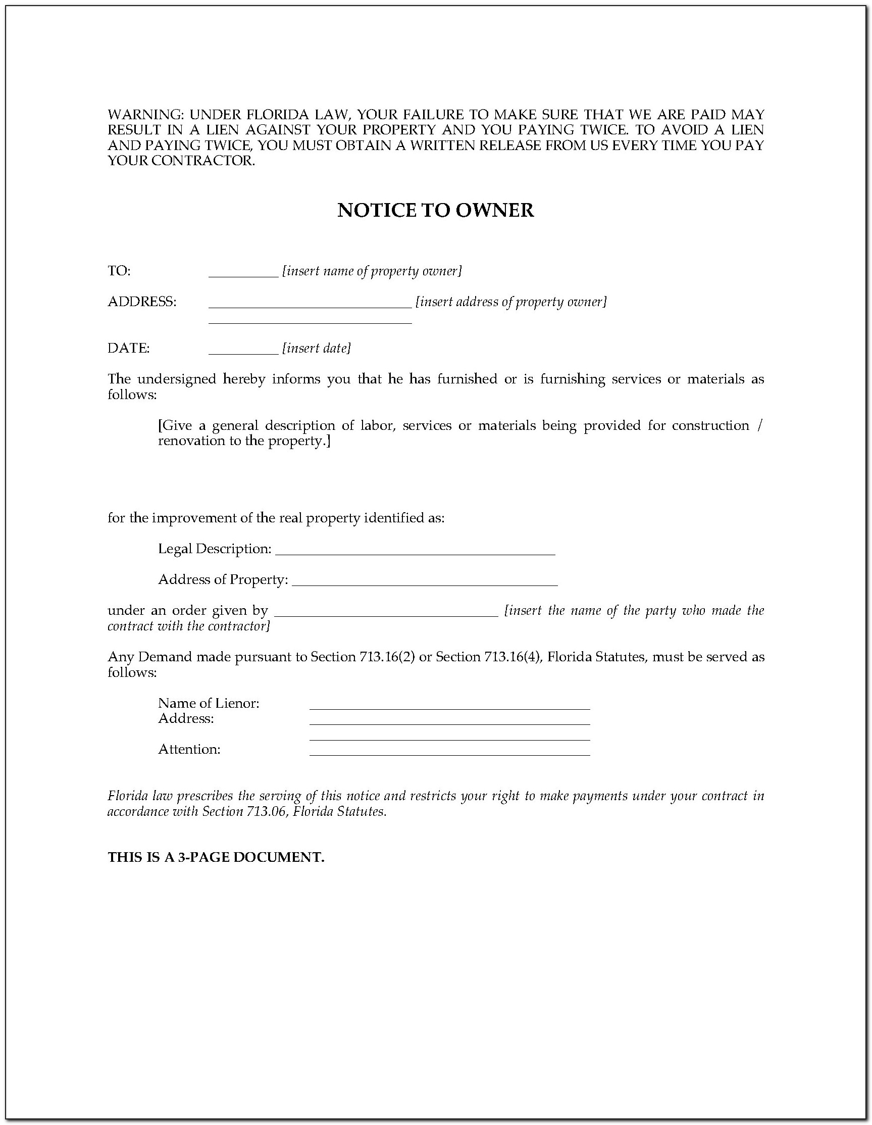Florida Dmv Forms Lien Release