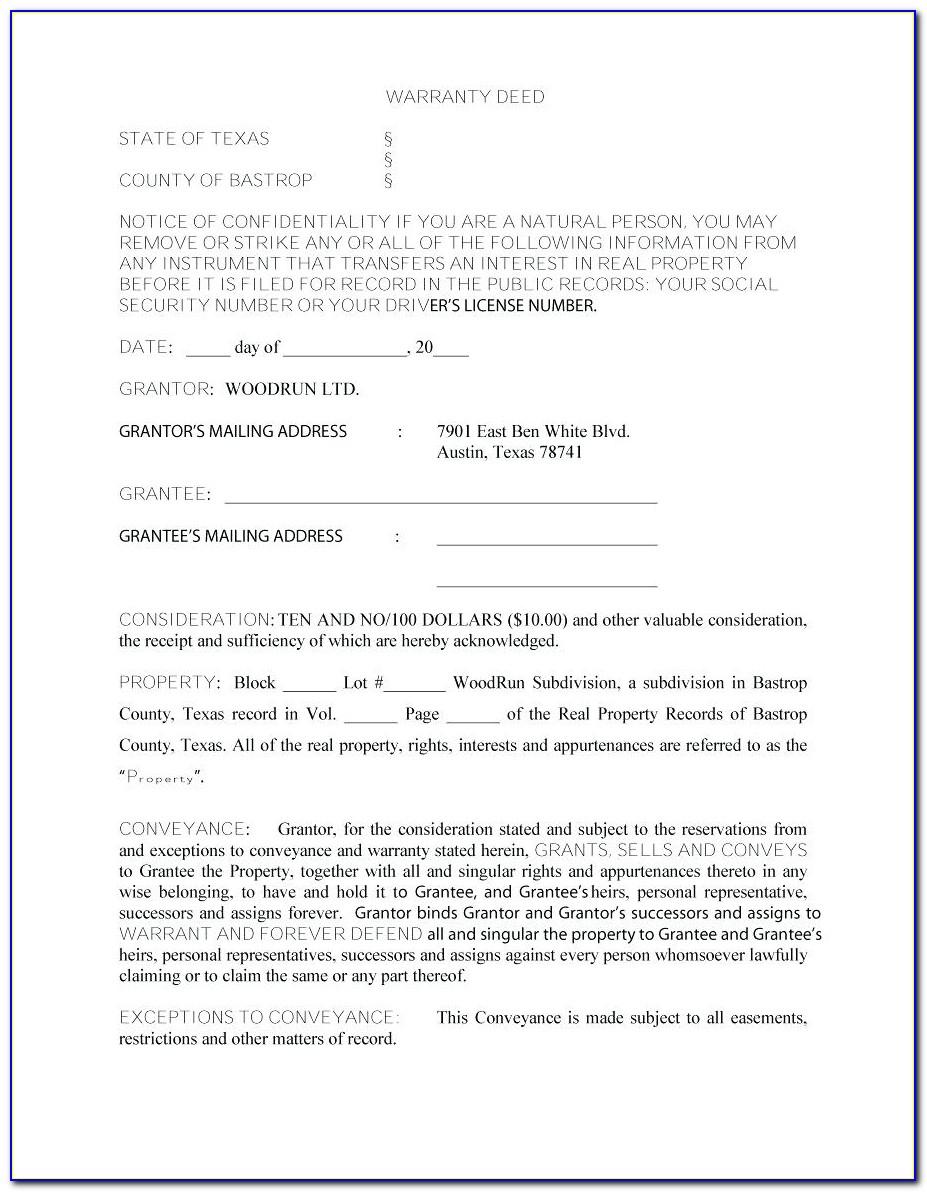 Florida General Warranty Deed Form Free