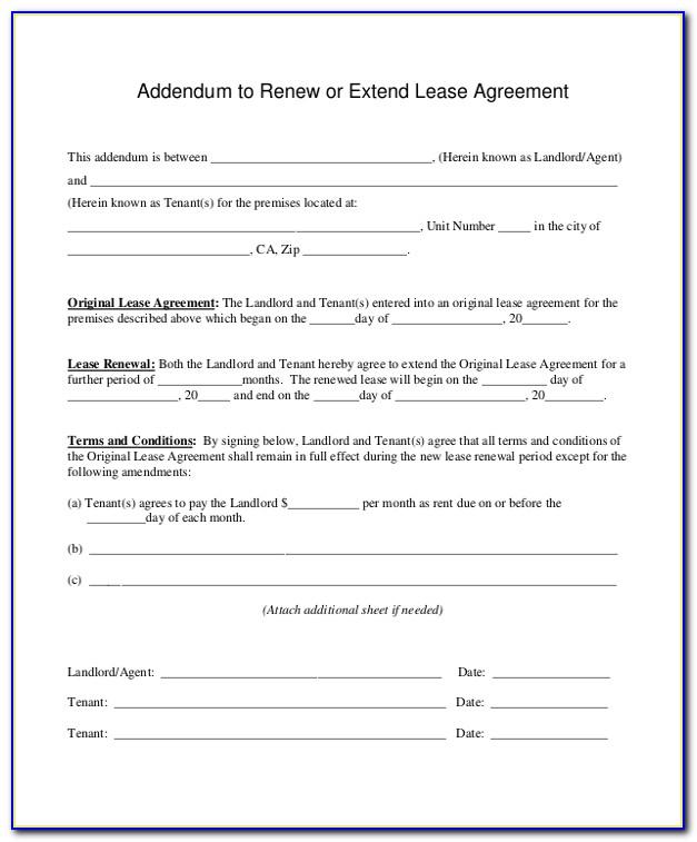 Florida Lease Renewal Form