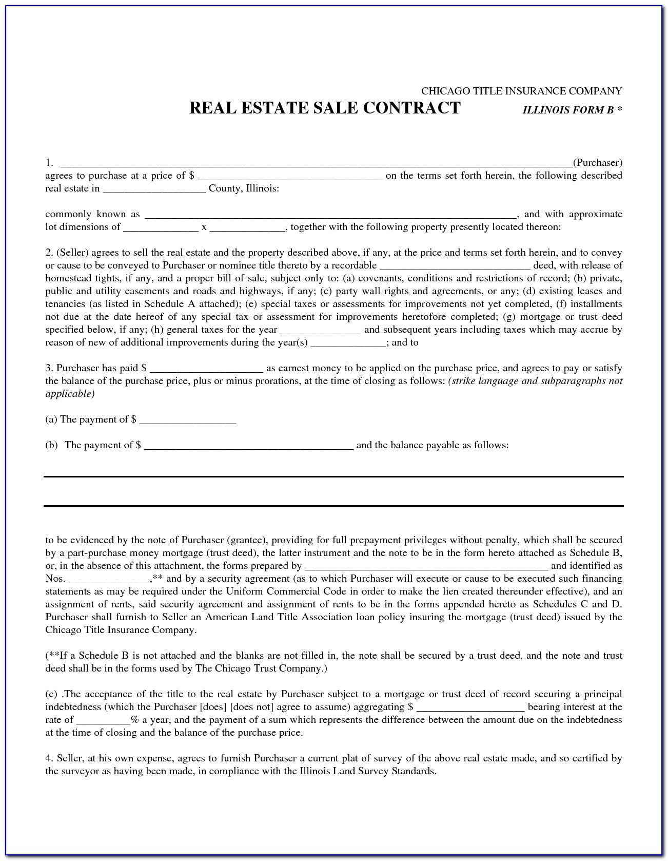 Florida Real Estate Contract Forms Free