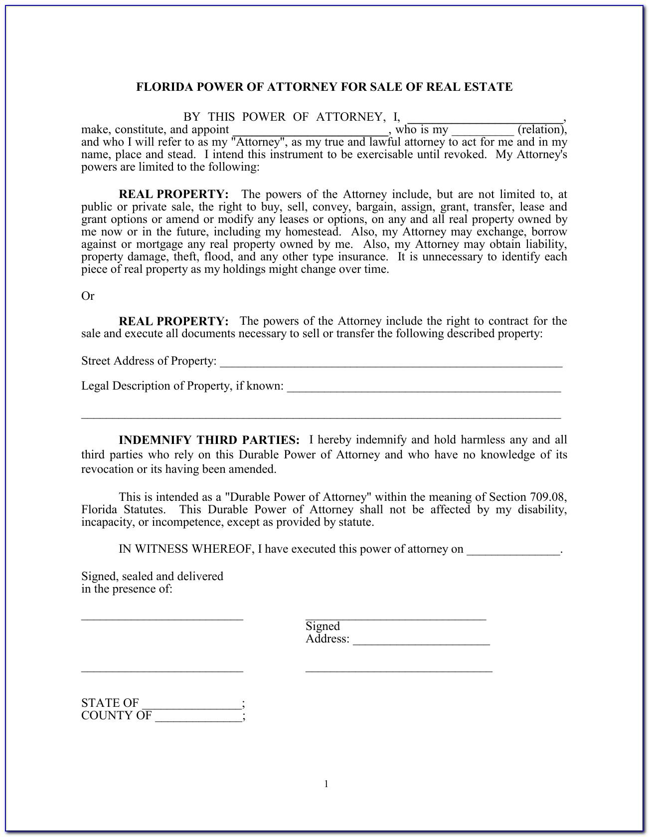 Florida Real Estate Contract Sample