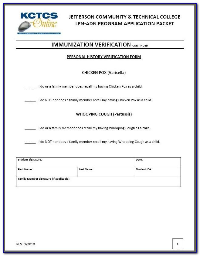 Flu Shot Verification Form 2018