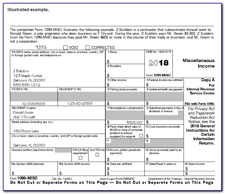 Form 1096 And 1099 Filing Address