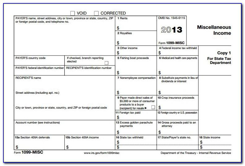 Form 1099 Blank Crossword