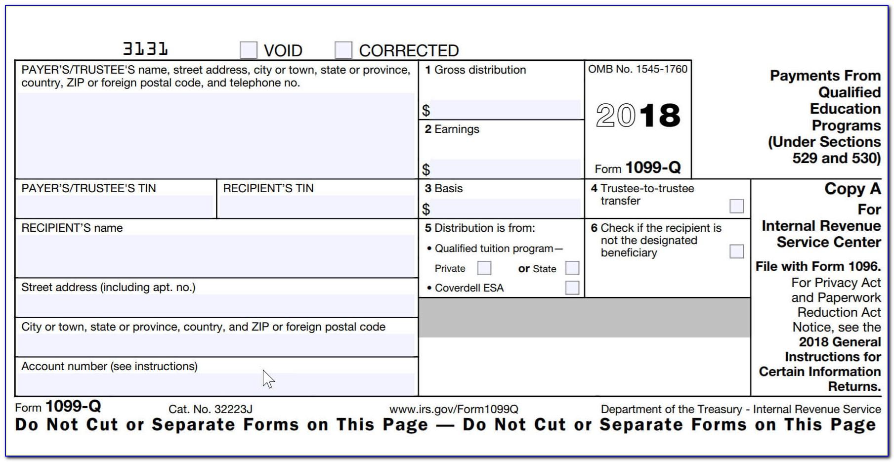 Form 1099 Printable 2017